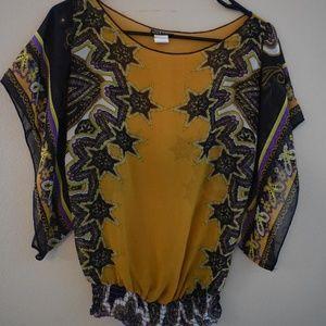 Wet Seal paisley sheer blouse- small